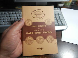 Antique Reference Book, Price Guide of Hard Times Tokens