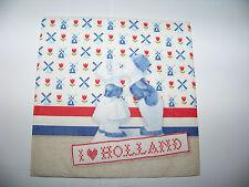 3  Servietten Nostalgie I love Holland