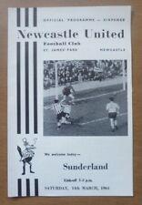 Newcastle United v Sunderland, 14/03/1964 - Division Two Match Programme