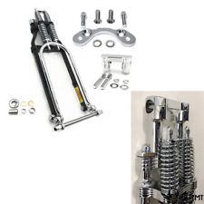 """18"""" Springer Front End Handlebar Adapter 4"""" Riser For Harley sportster bobber ch"""