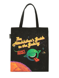 Hitchhiker's Guide to Galaxy Out Of Print Book Cover Canvas Tote Bag New Fashion
