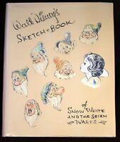 Snow White and the Seven Dwarfs Sketchbook Walt Disney 1993 issue Applewood 1938