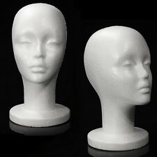 Mn 433 2 Pcs Female Styrofoam Mannequin Head With Long Neck
