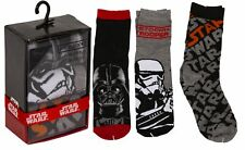Star Wars SOCKS 3 Pack Garçons Enfants DISNEY 3 Paire Taille Unique UK 12-2