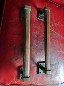 Large Pair Of Antique Reclaimed Art Deco Door Pulls Handles