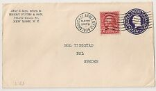 COVER USA UNITED STATES TO SWEDEN CHURCH ST. ANNEX.  N.Y. 1938. 12  L365