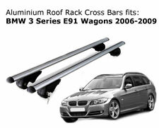 Aluminium Roof Rack Cross Bars fits BMW 3 Series E91 Wagons 2006-2009