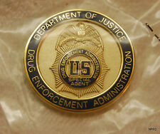 DEA 1.5 inch Full Color Seal Badge Challenge Coin  Police CIA FBI Secret Service