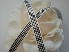 *Lace Market* 5 Metres 10mm 1cm Berisfords Black White Grosgrain Ribbon