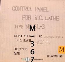 Mori Seiki SL-3, Lathe A/C Magnetics Electrical Parts and Diagram Manual 1983