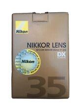 Nikon Nikkor af-s 35 mm f/1.8 g lens