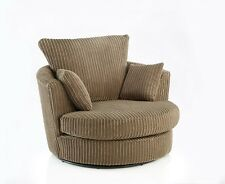 Cuddle Swivel Chair Jumbo Cord - Crushed Velvet Choice Of Colours - UK Made