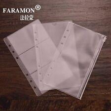 3Pcs A6 Size Plastic Envelope Document Card Holder Insert Refill Organiser Zip