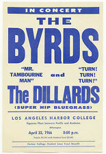 BUFFALO SPRINGFIELD 4th Show Ever Neil Young THE BYRDS 1966 Concert Handbill