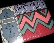 NIP/Vintage Twin Size Flat Sheet Colorful GOOD VIBRATIONS Made in USA by Bibb Co