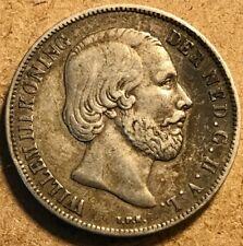 NETHERLANDS - Wilhelm III - Silver Gulden - 1851 - Very Fine