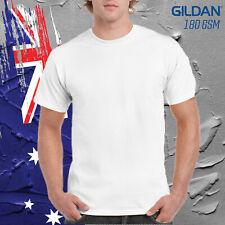--Gildan White Cotton Basic Tee Shirt Mens T Shirt 100% Cotton 180GSM
