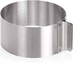 Wenco 541718 Tortenring Verstellbar 16 Bis 30 Cm Rostfreier Edelstahl Silber