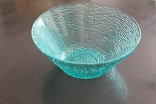 ART GLASS BOWL CRYSTAL RETRO FUNKY BLUE AAA