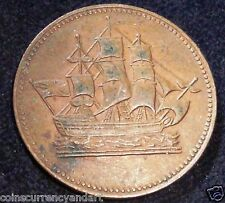 1835 CANADA (PRINCE EDWARD ISLAND) SHIPS COLONIES and COMMERCE TOKEN PE-10-26