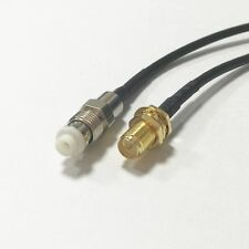 RP SMA female male pin to FME female jack RF coax cable RG174 20CM 8inch NEW