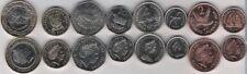 Falkland complete set 8 coins 1 - 50 pence 1 2 pounds bimetal 1998-2004 UNC