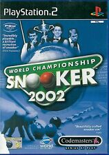 World Championship Snooker 2002 Sony Playstation 2 PS2 3+ Game