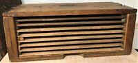 "Antique Cigar Dryer/Press Box - 8 Drawers Hold 24 (1/2"" x 6"") Cigars Each"