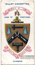 Worshipful Company of Plumbers Guild  London England 100+ Y/O Trade Ad Card