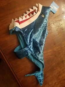 Thrills & Chill Pet Dog Cat Shark Costume, Size Medium, NEW WITH TAGS