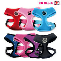 NEW Soft Air Mesh Padded Dog Harness. Red, Black, Pink, Light Blue S/M/L/XL
