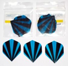 3 SETS OF BLUE FLASH POLY METRONIC DART FLIGHTS