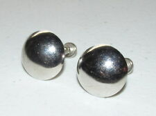 """Classy Vintage 5/8"""" Sterling Silver Stamped STAR Button Style Screw On Earrings"""