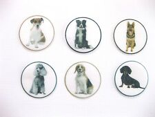 12 PRE CUT EDIBLE RICE WAFER PAPER CARD DOG DOGS CAKE CUPCAKE PARTY TOPPERS