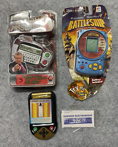 NEW Vintage Handheld Electronic Game LOT Battlefield-Deal Or No Deal-Password