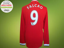 Ex! MANCHESTER UNITED HOME 2014-2015 #9 FALCAO Long Sleeve FOOTBALL SHIRT Jersey