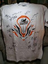 Autographed 2016 New England Black Wolves Lacrosse Team T-shirt size Large