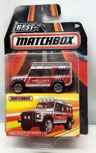 1997 LAND ROVER DEFENDER 110 AMBULANCE #MB838 MATCHBOX DIECAST SCALE 1/64 APPROX