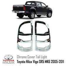 Chrome Tail Light Rear Lamp Cover Trim For Toyota Hilux Vigo SR5 MK6 2005-2011