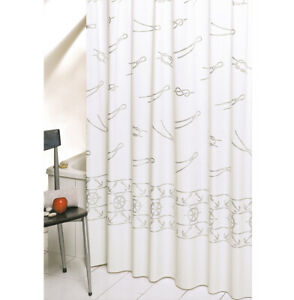 Shower Curtain Bathroom Marina Elegant Mold PVC Anelli Items Made IN Italy
