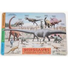 DINOSAURS Early LEARNING Kids CHILDRENS Educational Preschool WIPE-OFF PLACEMAT