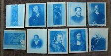CYANOTYPES SET OF 10 - FAMOUS PEOPLE + PAINTINGS
