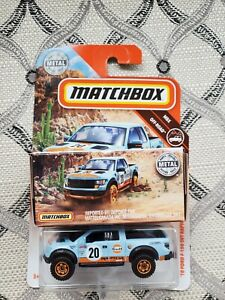 2018 Matchbox '10 Ford F-150 SVT Raptor Gulf New On Card B1 and in Box. Lot of 2