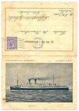 NEDERLAND S.M.N. 1929-2-5  POSTBLAD = M.S. JOHAN DE WITT = ENGLAND  FINE