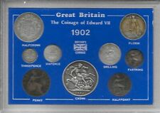 More details for 1902 to 1910 edward vii complete cased year sets including silver fine or better