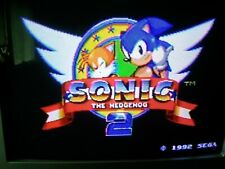 1992 Sonic The Hedgehog 2 Sega Genesis Cartridge Case Manual / Working