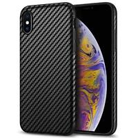 Carbon Fiber Cover Shockproof Soft Hybrid Case for iPhone XS / XR / XS Max / X
