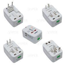 Travel Plug Adaptor Universal Usb Port Europe USA Dual Charger Power Holiday
