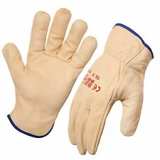 12 Pack - Premium Protective Leather Riggers Gloves. Style No: 743341.