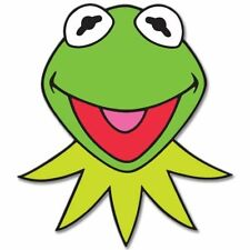 "KERMIT Muppets Jim Henson Vynil Car Sticker Decal    -4 Pack  2.5"""